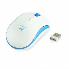 Ewent Wireless mouse white-blue 1000dpi