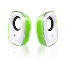 Ewent Speaker set / 2.0 USB powered Green/White lightning