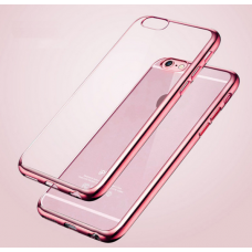 iPhone 6 Bumper Transparant met roze rand