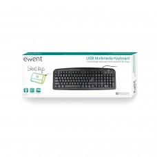 Ewent Multimedia keyboard USB US lay-out