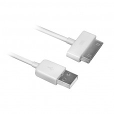 Ewent USB2.0 to Apple 30 pin cable,OD 3.5 Length 1.5M, white o.a. voor iPhone 4