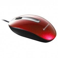 Lenovo Optical Mouse M3803 Red / Bedrade Metallic Rode Muis